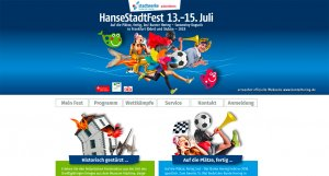 Stadtfest 2018 website screen